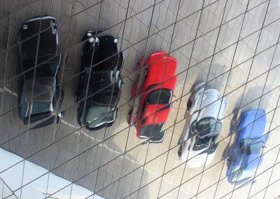 Vor dem Porsche Museum
